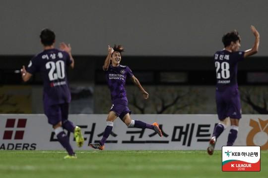 '최재훈 결승골' 안양, 아산 3-0 제압...4G 만에 승
