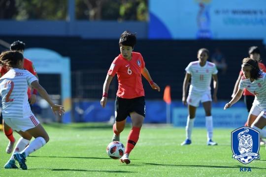 차이 실감한 태극낭자...FIFA U-17 여자월드컵서 스페인에 0-4 대패
