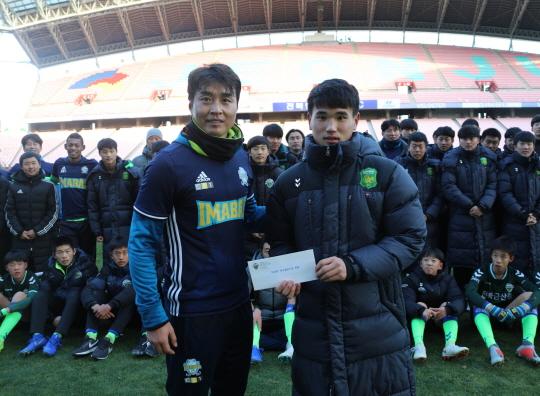 이동국 '이마발' 모임, 전북 유스 영생고와 친선축구경기_이미지
