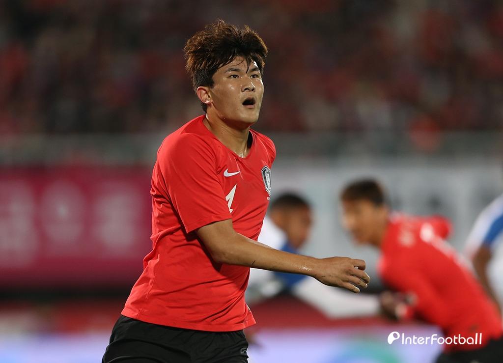 '김민재 데뷔골' 벤투호, 키르기에 1-0 리드(전반 진행 중)