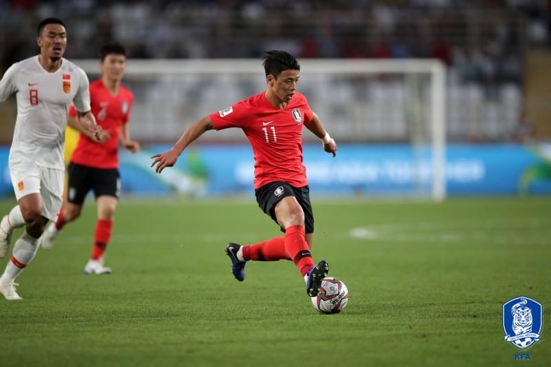 '황희찬 선제골' 한국, 바레인에 1-0 리드(전반 종료)_이미지