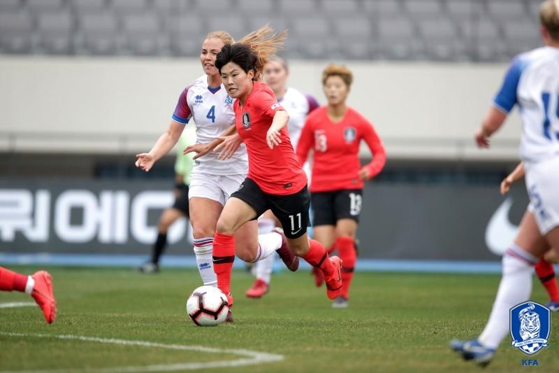 '지소연-여민지 출격' 女대표팀, 아이슬란드전 선발 발표