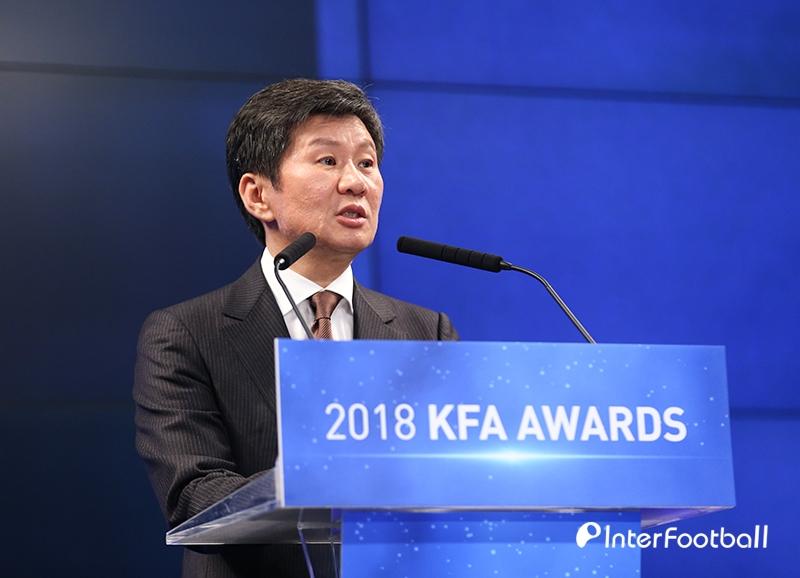 KFA 정몽규 회장, 기부금 10억으로 U-20 대표팀에 격려금 지급