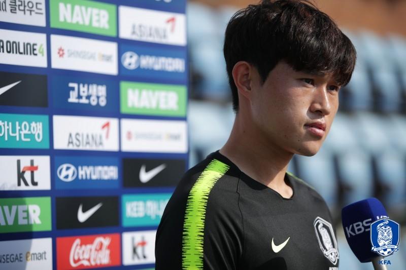 "'A매치 데뷔' 이동경, ""울산 형들이 많이 챙겨줘...기대에 감사하다"""