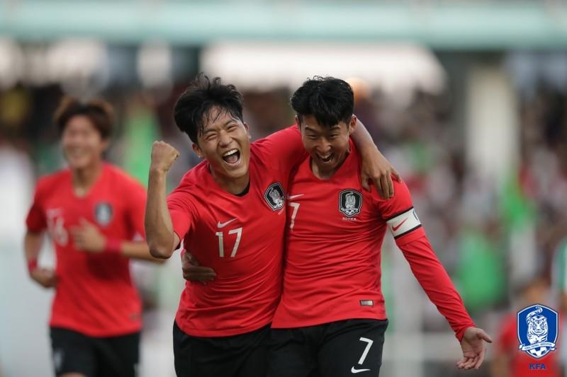 '나상호-정우영 연속골' 한국, 투르크메니스탄 2-0 제압...예선 첫승