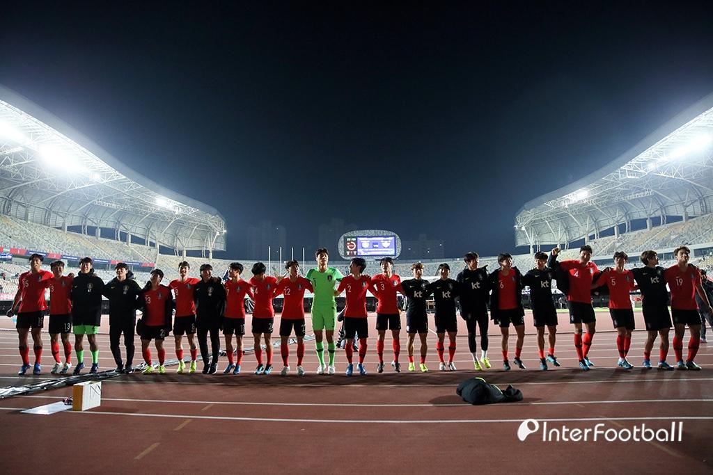 U-22 대표팀, 우즈벡전 승리의 세레머니