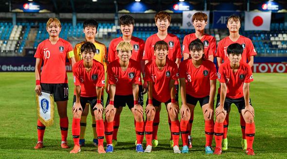 '자책골 행운' U-19 女대표팀, '10명' 미얀마에 1-0 진땀승...북한과 4강 격돌