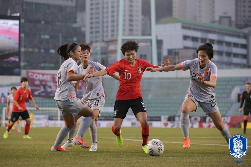 '아쉬웠던 마무리' 女대표팀, 개막전서 중국과 0-0 무승부