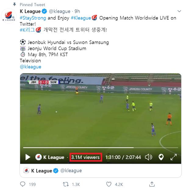'흥행 성공' K리그 개막전, 트위터 통해 시청자 300만명 돌파