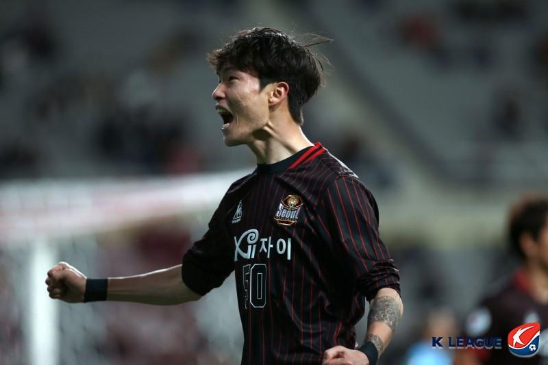 '박동진 선제골' 서울, 강원 원정서 1-0 리드 (전반 종료)